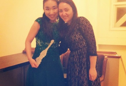Wonhee Bae & Simona Barbu, after the Violin Gala @Enescu Competition